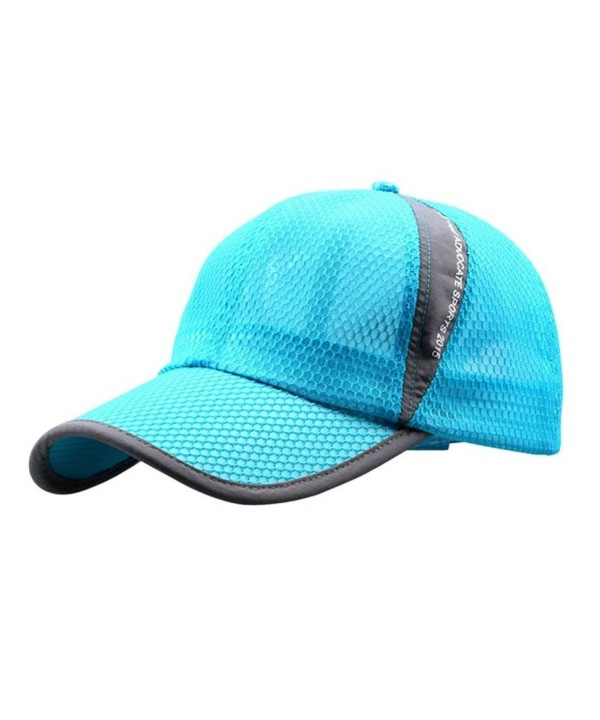 Hat-UPLOTER Outdoor Holiday Sunshade Sun Hat Quick-dry Ventilation Baseball - Sky Blue - CV12L0HR62N