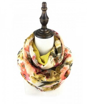 Bruceriver Women's Double Layer Reversible Circle loop Infinity Scarf - Golden Rod - C112G4787RH