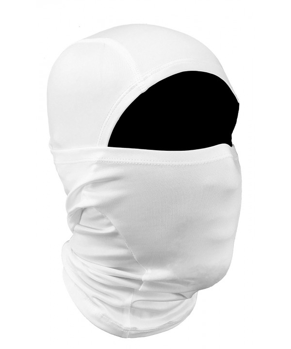 OJORE White Balaclava Ski Mask Cycling Motorcycle Riding - CR12NVB0H8L