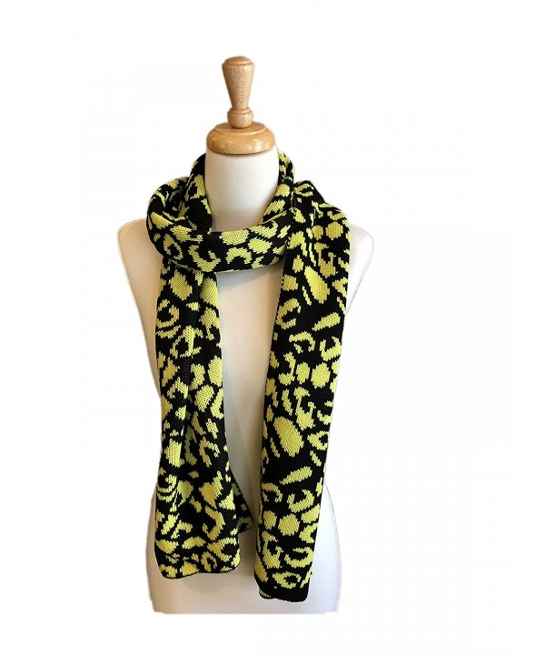 Fine Knit Fashion Scarves with Unique Pattern- Shaw Scarf - Yellow/Black - C81897U765O