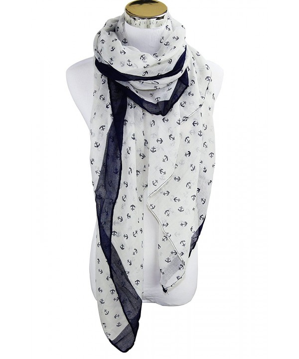 PANZ Navy Anchor Scarf - White - CR11XRBUWR7