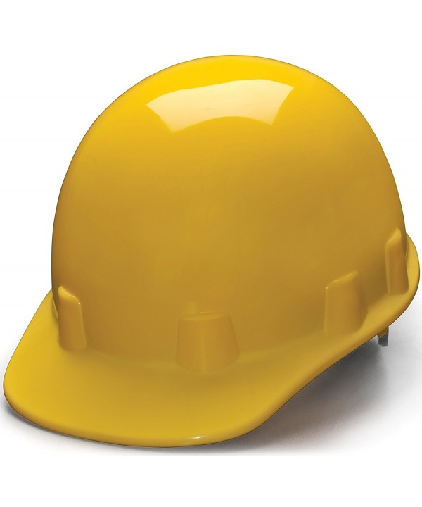 Pyramex Cap Style 4 Point Ratchet Suspension Sleek Shell Hard Hat - Yellow - CU1139ASARD