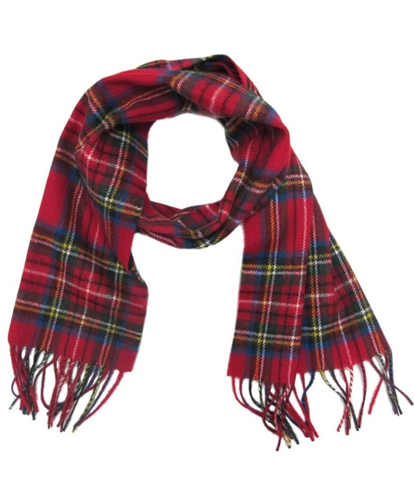 Ingles Buchanan 100% Wool Plaid Scarves - Made In Scotland - 12 Tartan Choice - Royal Stewart - CH11HANW58L