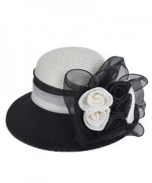 VECRY Womens Cloche Ribbon Flower