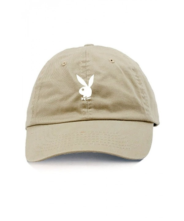 Playboy Bunny Unstructured Dad Hat-Stone - CP12ODRAD4X