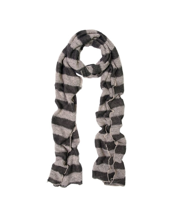 Premium Long Soft Knit Striped Scarf - Different Colors Available - Taupe - CB11H43D41P