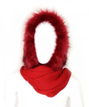 Futrzane Women Hooded Scarf Knitted in Cold Weather Scarves & Wraps