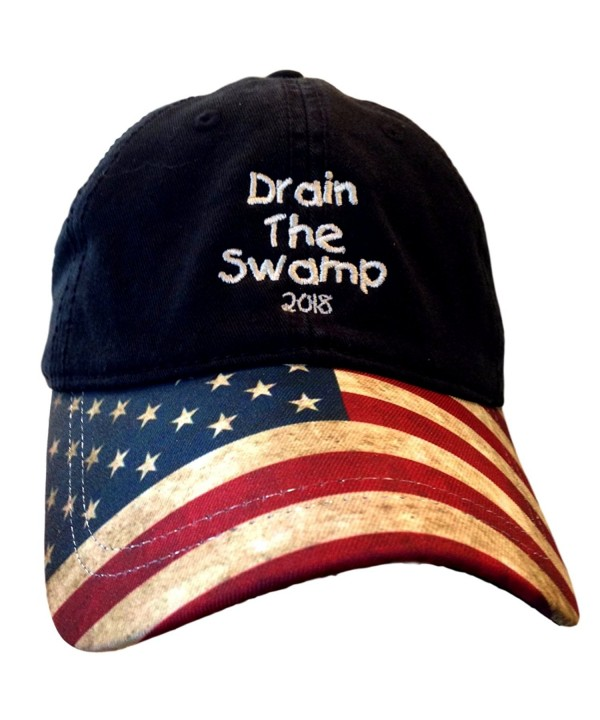 USA Flag Bill Drain The Swamp Hat for Trump Supporters - C917YSCIYEQ