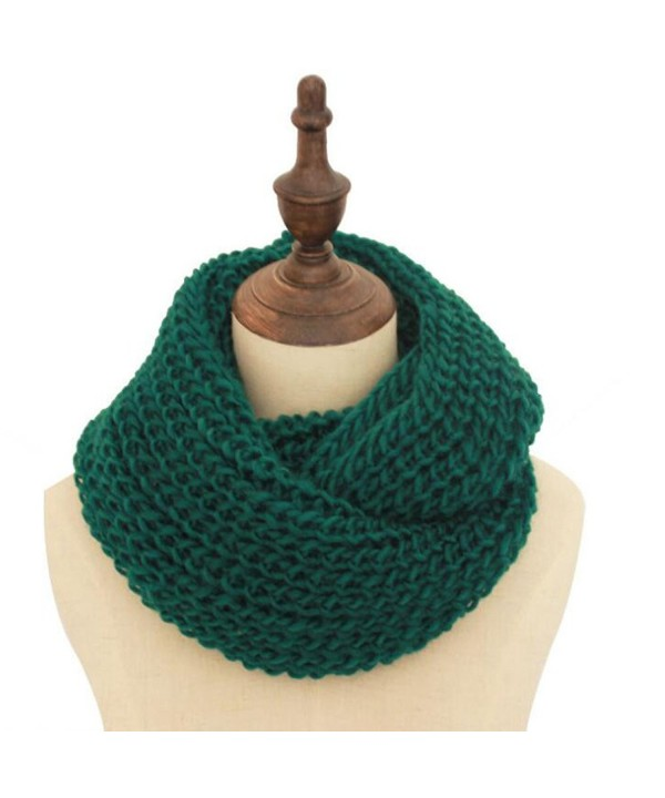 Woogwin Womens Knit Infinity Scarf Thick Soft Winter Warm Circle Loop Scarves - Forestgreens - CX12N4ZMCXC