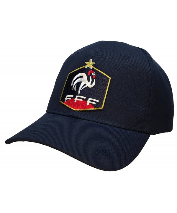 French Football Federation FFF Hat Blue Ballcap Cap - CT11B91AIK7