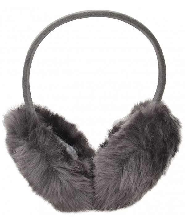 Simplicity Women's Winter Faux Fur Ear Warmers Earmuffs - Solid_dark Grey - CX11UHOAX4N