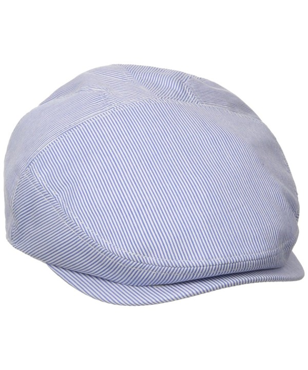Henschel Men's New Shape Pinstripe Ivy Hat - Gray/Blue - CE11DNVU3AL