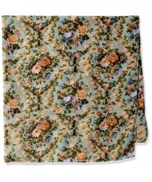 Womens Vintage Floral Square Scarf