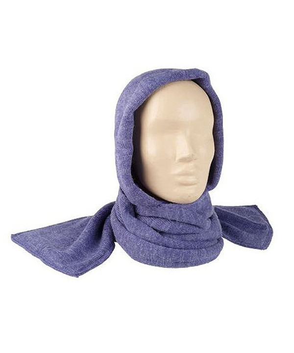 35 Below Marled Hooded Scarf - Purple - CW12NUBTOJD