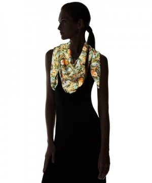 Womens Vintage Floral Square Scarf in Fashion Scarves