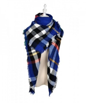LIYZU Women's Tassels Soft Plaid Tartan Gorgeous Shawl - 3 - CM188RM88IM