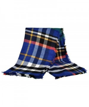 LIYZU Womens Tassels Tartan Gorgeous in Fashion Scarves