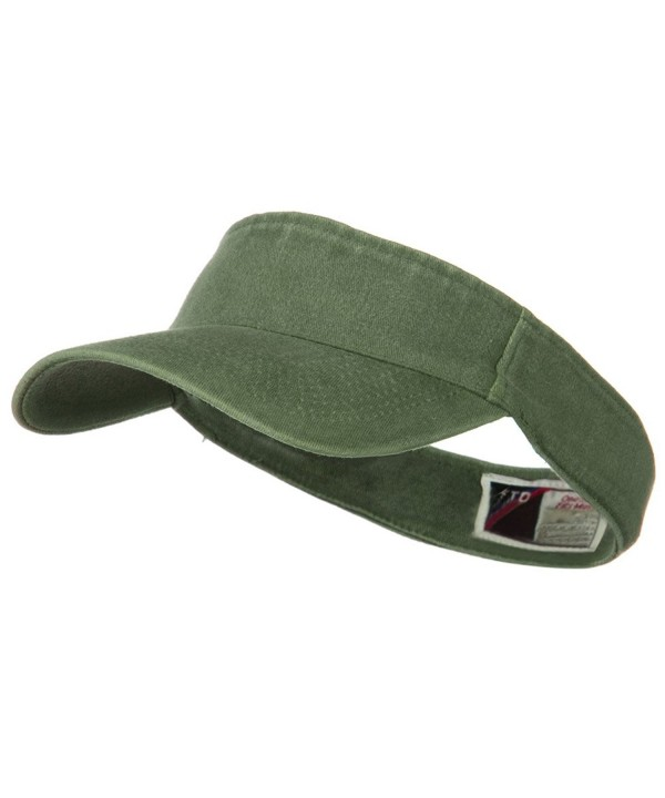 Washed Pigment Dyed Cotton Twill Flex Sun Visor - Olive Green W38S31F - CL110PN2DCH