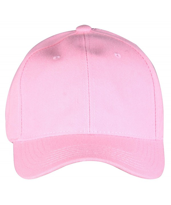 PZLE Solid Color Baseball Cap Adjustable Fashionable Baseball Hats for Women - Solid Pink - CR12NSXKGPX