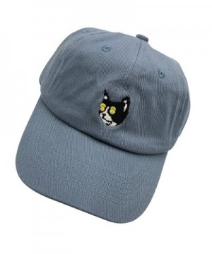 XYH Golf Cat Dad hats Baseball Cap Embroidered Adjustable Snapback Cotton Unisex - Denim - C1187K08QR6