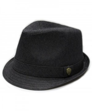 City Hunter Pmt590 Blended Poly with Self Band Fedora - Black (L/xl Size) - C011CUM9WTD