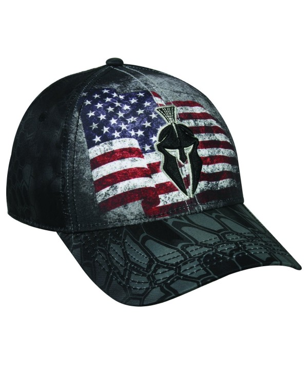 Kryptek Tactical Warrior Distressed American Flag Typhon Black & Grey Camo Cap Hat 154 - CX17Z6O0HH0