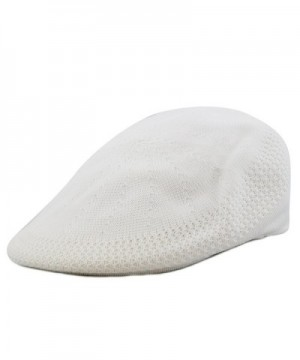 The Hat Depot 1100 Classic Mesh Newsboy Ivy Hat - White - CJ12CU5I3NP