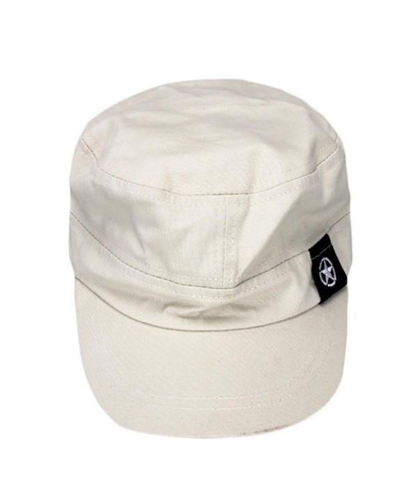 Men Women Flat Roof Military Hat Cadet Patrol Bush Baseball Field Cap Sun Hat - Gray - C912B66SGLN