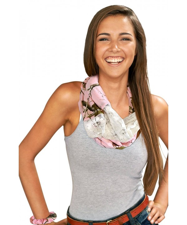 Realtree Camo Infinity Scarf- Real Tree Pink / Sugar Coral Realtree Girl Chloe - Realtree Pink & Lace - CR11WJUBGWR