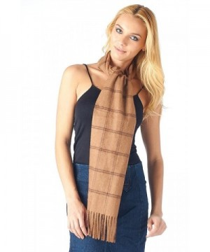 High Style Cashmere Women Windowpane in Fashion Scarves