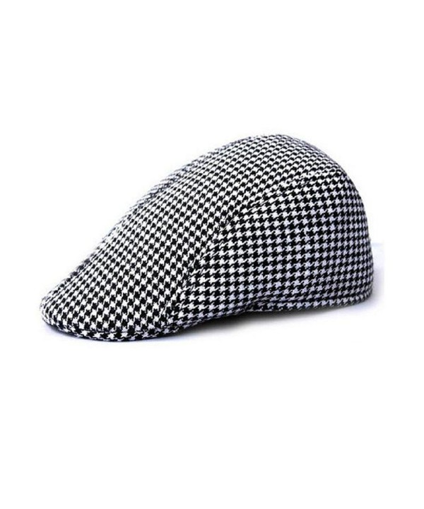 Tosangn Duckbill Driving Flat Ivy Beret Cap Peaked Sport Hat Golf Cabbie Hat (Black) - CI12KP8YO9V