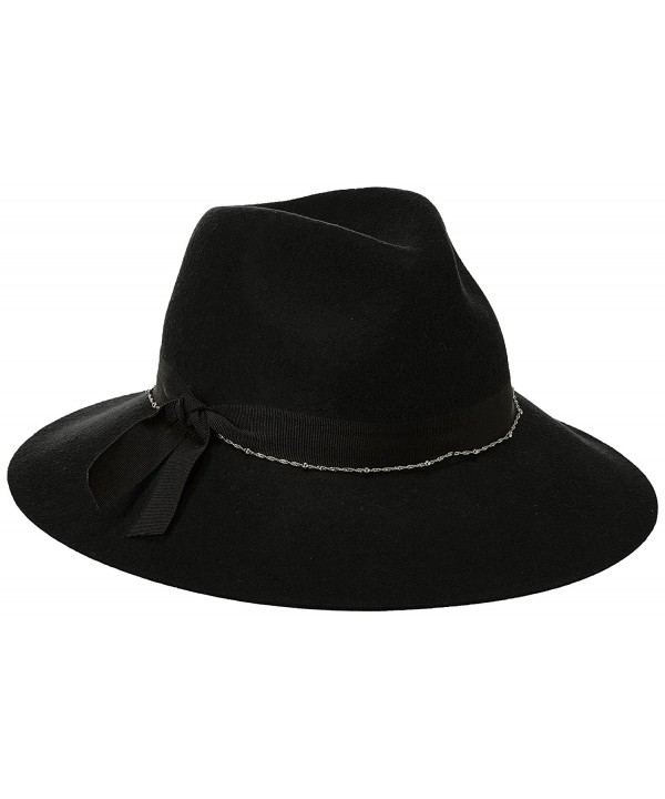 Scala Women's Felt Fedora with Chain - Black - CU17Z4UHMZN
