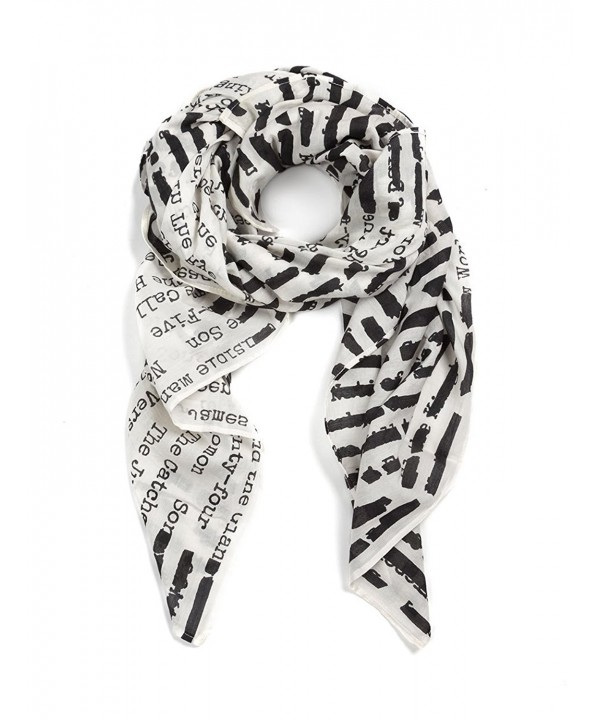 Out of Print Lightweight Scarf - White - CW12MAILPJN