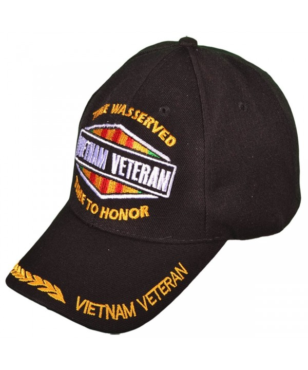 Vietnam Veteran Time Served Time to Honor Wreath Mens Black Camouflage - Black II - CR11YJ7RMZN