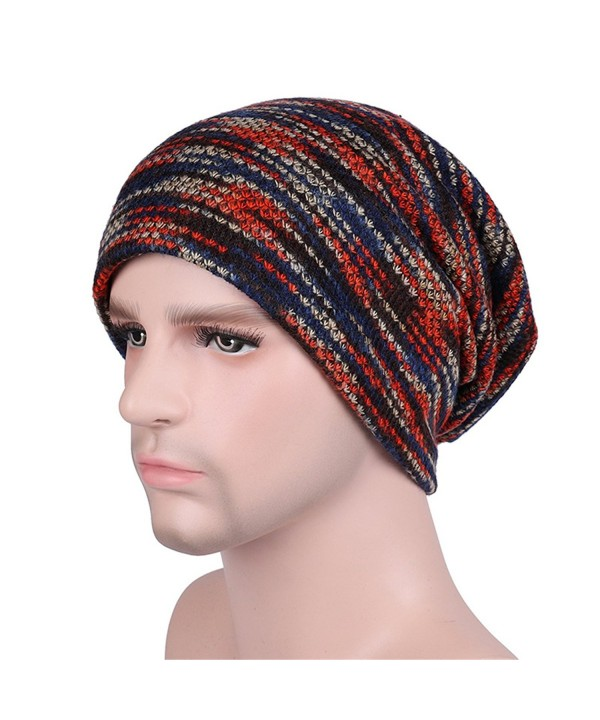 Winter Knitting Hat Fashion Beanie Hat Thick Soft Warm Skull Cap - Unisex - Red - CZ187G8X0H3