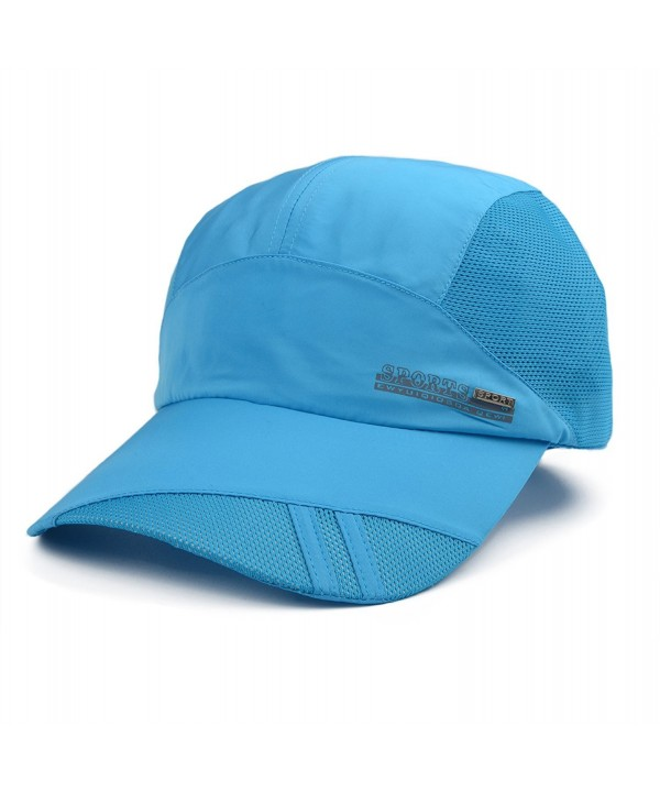 Flammi Quick Drying Mesh Baseball Cap Sun Runner Cap For Men & Women - Blue - CC17YLGROZY