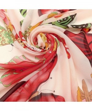 CHIC DIARY Womens Chiffon Pink butterfly in Fashion Scarves