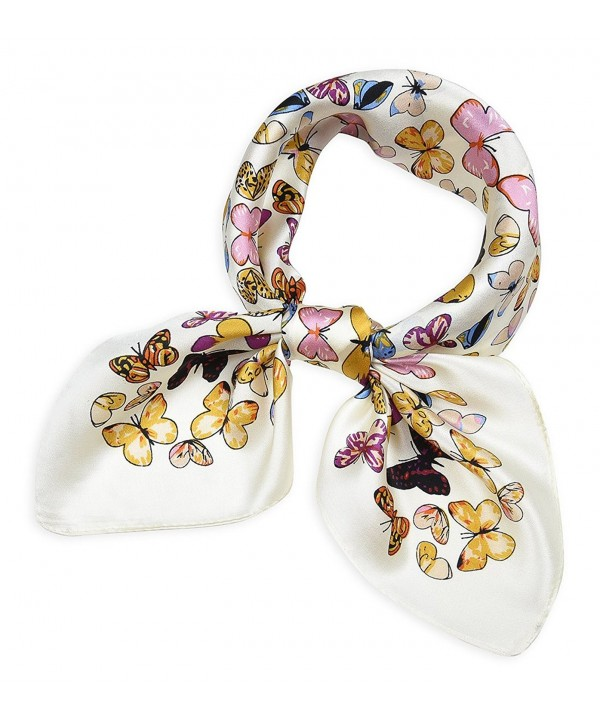 Mulberry Scarves Colorful Butterfly Anti flash - Colorful Butterfly Anti-flash White - CU184KLYE2C