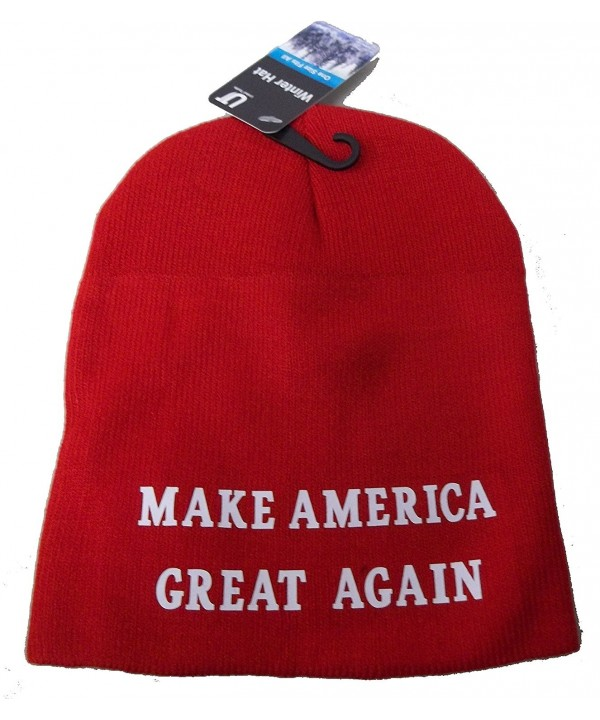 CCB MAGA Make America Great Again Winter Beanie Hat Riding Skull Cap Donald Trump - Red - C712O3UOHFY