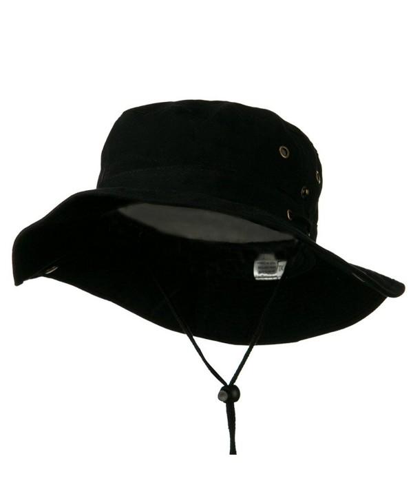 Extra Big Size Brushed Twill Aussie Hats - Black (For Big Head) - CH11BKZVKJB