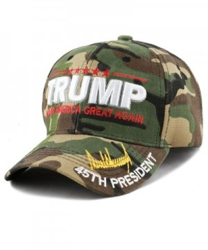 "The Hat Depot Exclusive 45th President ""Make America Great Again"" 3D Signature Cap - Woodland Camo - CG187IRMWWG"
