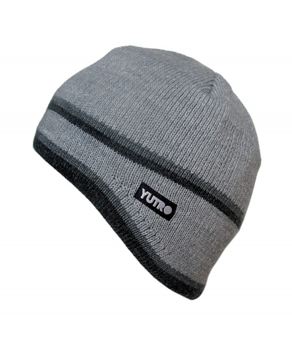 YUTRO Fashion Thinsulate Wool Ski Winter Beanie Hat With Fleece Lining - Dust Grey - CC129PXO3F7