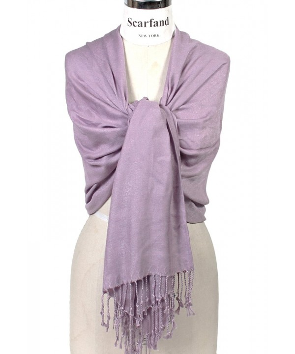 Scarfand's Super Soft Solid Color Pashmina Shawl / Wrap / Stole / Scarf - Lavender - CO11CD45J13