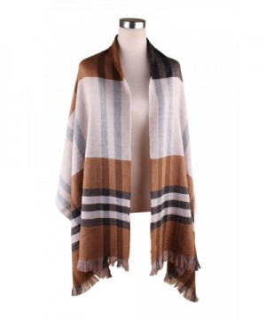 Plaid Blanket Scarf Pashmina Scarves