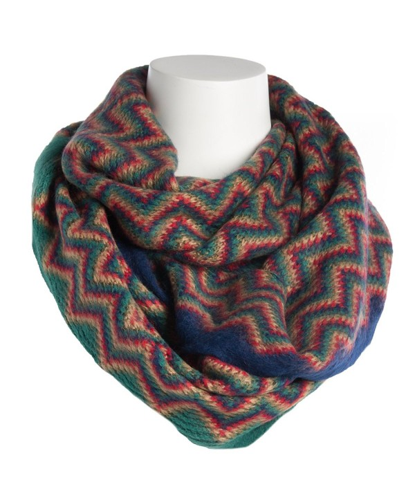 Tickled Pink Women's Zig Zag Infinity Scarf Soft Warm Winter Lightweight Oversized Shawl Wrap - Multicolor - CO187CZZE5N