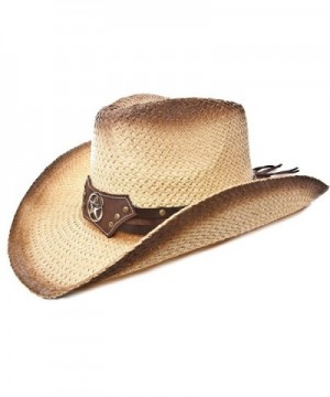 Western Hat / Brown Tea Stain / Star Disk - C81170G4Q81