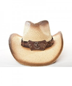 Western Hat Brown Stain Star