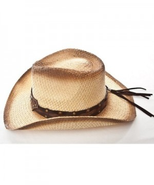 Western Hat Brown Stain Star in Men's Cowboy Hats