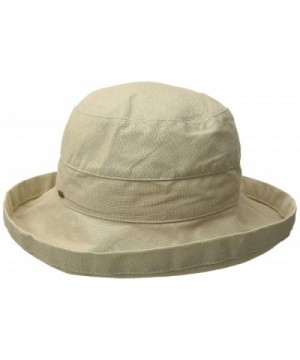 Scala Women's Medium Brim Cotton Hat - Taupe - C811DTWCOHZ