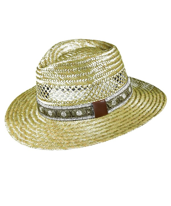 Dorfman Pacific Golf- Rush Straw Safari Hat with Golf Band - Natural - CC11KKTWXNF